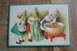 """ansicht kaart met glitter """" samen koken"""""""
