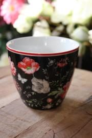 """Greengate latte cup """"Meadow black"""""""