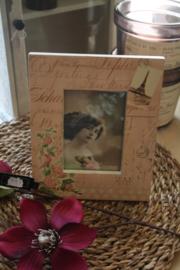 "oud roze romantisch fotolijstje ""Paris"""