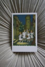 """mooi kaartje """"engeltjes komen samen"""""""