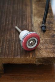 mooi klein retrolook kastknopje in roze