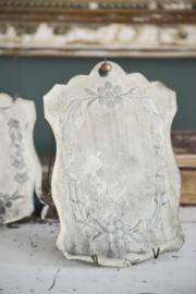 prachtige oud lijkend spiegeltje in metalen houder
