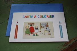 """kleurenkaart met envelop """"in de klas"""""""