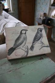 """houten wandbord met vogels """"1"""""""