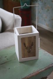 houten lantaarntje met hert