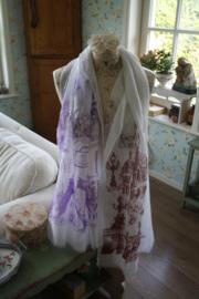 sjaal met Frankrijk decoratie in 2 kleuren