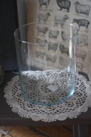 mooie cylindervormige glazen vaas/ windlicht