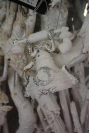 """kunststof hanger met zilverglitter """" telefoon"""""""