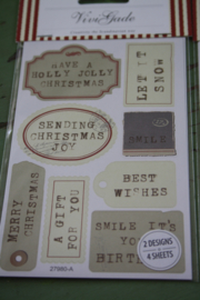 """set van 4 sticker vellen """"Christmas"""""""