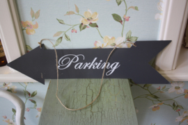 "metalen tekstbord ""parking"""