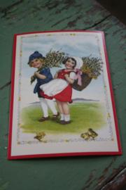 """ansicht kaart met glitter """" bloemen brengen"""""""