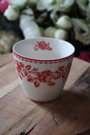 "Greengate latte cup ""Fleur red"""