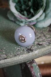 zacht grijs porseleinen kastknop