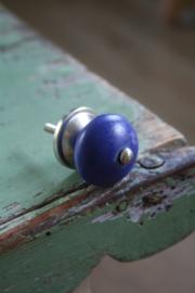 """klein porseleinen knopje """"mat blauw"""""""