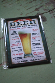 """klein metalen bordje """"Beer"""""""