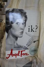 """mooie kartonnen reclameplaat """" Angel Face"""""""