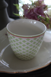 "Greengate latte cup "" Sasha green"""