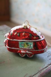 """prachtige glazen kerstbal """"caravan"""""""