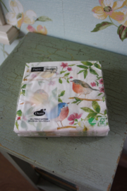 """papieren lunch servetten """"birds"""""""