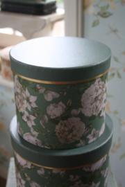 ronde doos met bloemen M