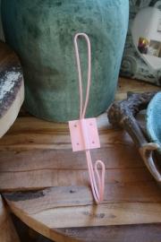 dun ijzeren haak in roze