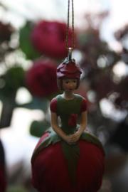 """bloememeisje """"rode roos in de knop"""""""