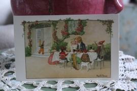 """schattig kaartje """"bruiloft met de poppen"""""""