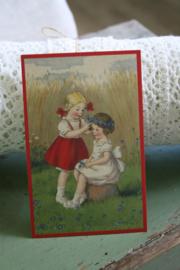 """schattig kaartje """"bloemenkrans"""""""
