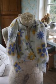 vrolijke sjaal met zonnige bloemen