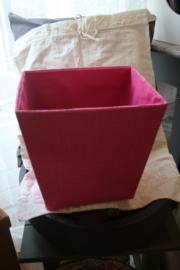 roze stoffen mand