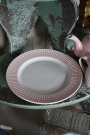 Dinner plate Alice pale pink
