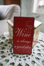 """leuke magneet """"wine"""""""
