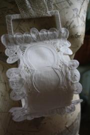 mooie stoffen toiletrolhouder voor 1 rol met lacet kant