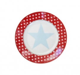 "Happy plate ""Red big star"""