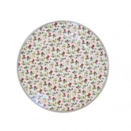"Happy plate ""Flowers in white"""