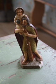 "brocante beeldje ""St Christoph met kind"""