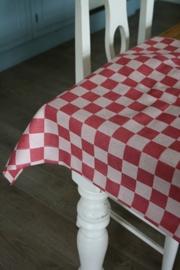 """prachtig landelijk tafelkleed """"Elias pompdoek rood"""" 160 x 350 cm"""
