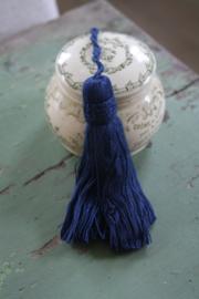 klein gordijn kwastje in donker blauw
