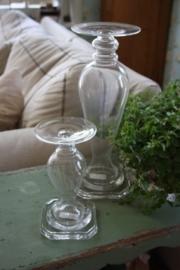 mooie heldere glazen kandelaar M
