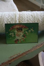 """schattig kaartje """"spelen onder de paddenstoel"""""""