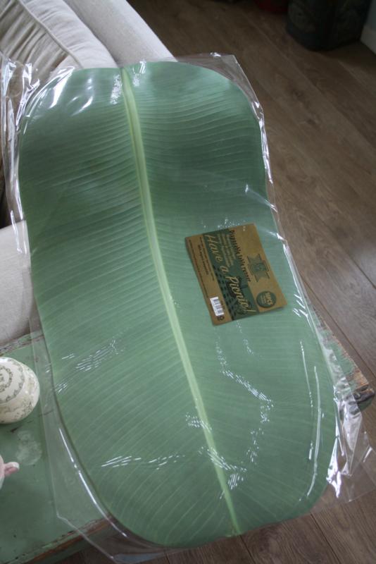 set van 10 papieren tafellopers in bladvorm