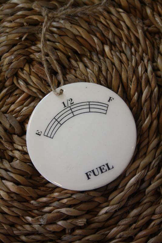 """emaille schildje """" fuel"""""""