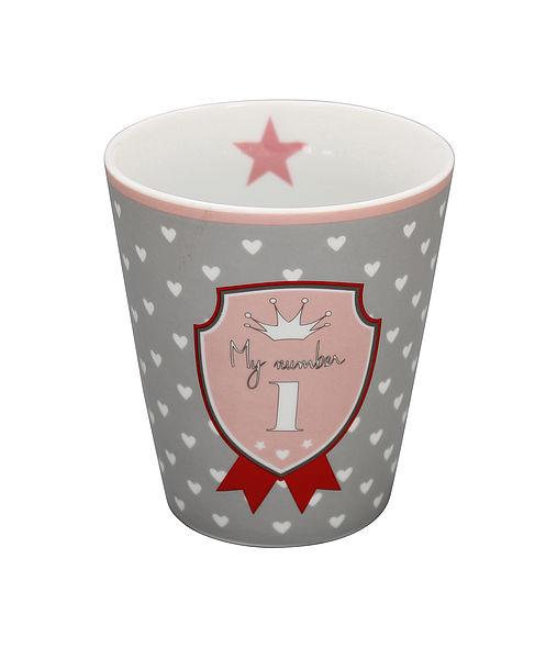 "Happy mug "" My number 1"""