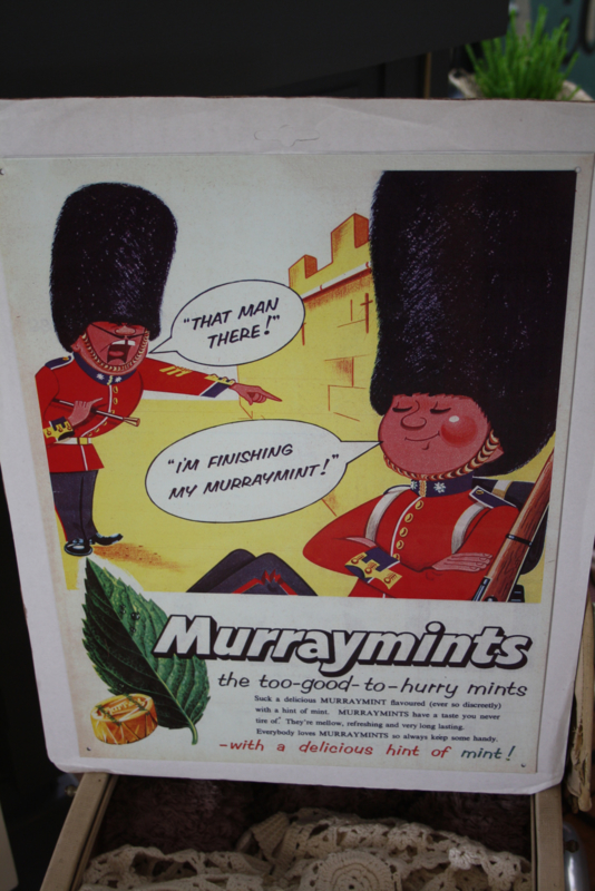 "dun metalen plaat ""Murraymints"""
