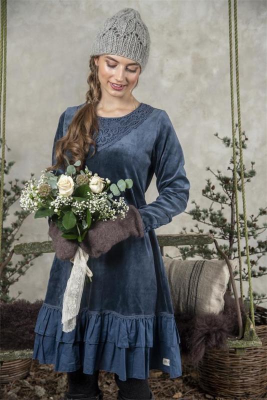 Dress Delicate dream  Navy blue in maat XL