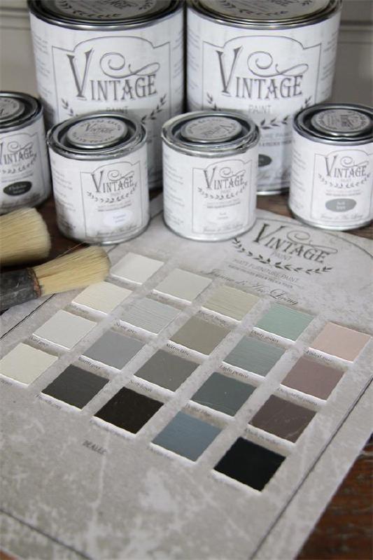 kleuren kaart Vintage Paint