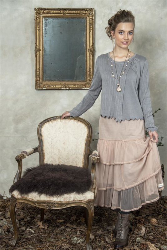 Skirt Memorable hope  Dusty rose in maat XL/XXL