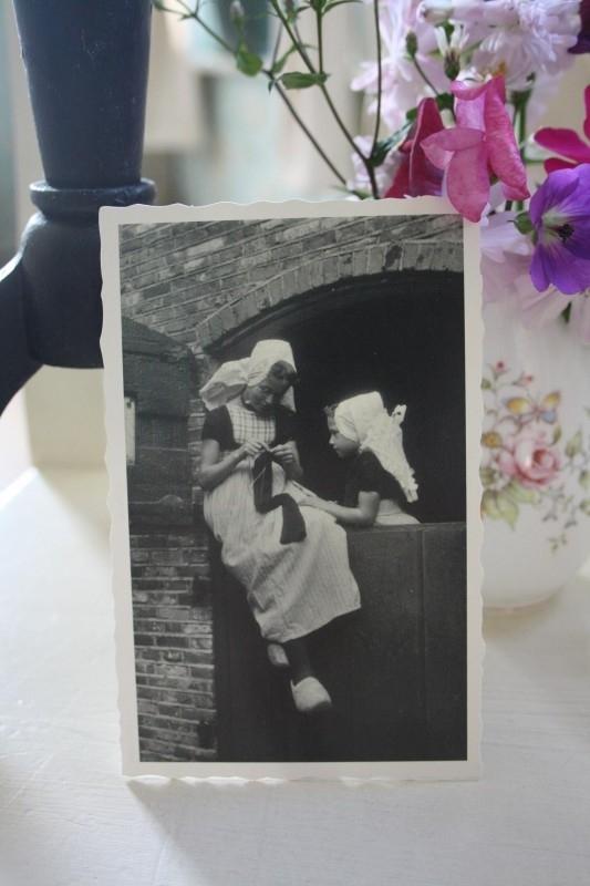 "oud-Hollandsche kaart ""sokken breien 1954"""