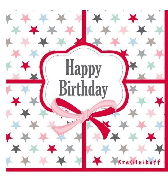 """papieren servetten """"Happy birthday"""""""