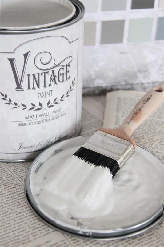 "Vintage wall paint  ""pearl grey"""